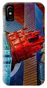 New York City Park Avenue Sculptures Reimagined IPhone Case