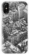 New York City - Skyline In The Snow IPhone Case by Vivienne Gucwa