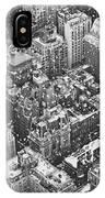 New York City - Skyline In The Snow IPhone Case