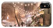 New York City - Winter Snow Scene - East Village IPhone Case