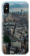 New York From A Birds Eyes - Fisheye IPhone Case