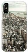 New York From Above - Vintage IPhone Case