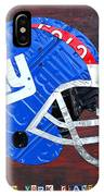 New York Giants Nfl Football Helmet License Plate Art IPhone Case