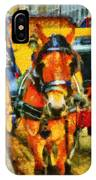 New York Horse And Carriage IPhone Case