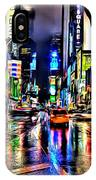New York Lights In Rain IPhone Case