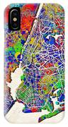 New York Map Abstract 2 IPhone Case