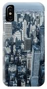 New York Panoramic View From Empire IPhone Case
