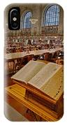 New York Public Library Rose Main Reading Room  IPhone Case