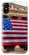 New York Stock Exchange With Us Flag IPhone Case