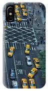 New York Taxi Rush Hour IPhone Case