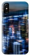 New York - The Night Awakes - Blue I IPhone Case