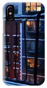 New York Window - Fire Escape In Winter IPhone Case