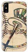 New York Yankees Poster Vintage IPhone Case