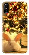 New Zealand White Rabbit Under The Christmas Tree IPhone Case