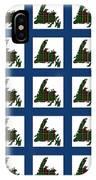 Newfoundland Tartan Map Blocks Blue Trim IPhone Case