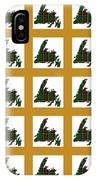 Newfoundland Tartan Map Blocks Gold Trim IPhone Case
