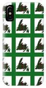 Newfoundland Tartan Map Blocks Green Trim IPhone Case