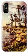 Newport Beach Jetty Vintage Filter Picture IPhone Case