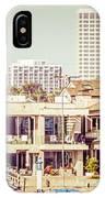 Newport Beach Skyline Vintage Panorama IPhone Case
