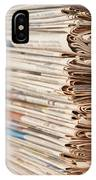 Newspaper Stack IPhone Case