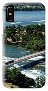 Niagara River And Goat Island Aerial View IPhone Case