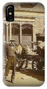 Niagra Carting Wagon Extras The Great White Hope Set Globe Arizona 1969-2014 IPhone Case