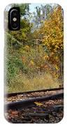 Nickel Plate Train Tracks IPhone Case