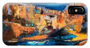 Night Colors Over Riomaggiore - Cinque Terre IPhone X Case