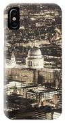 Night View Over St Pauls IPhone Case