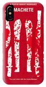 No114 My Machete Minimal Movie Poster IPhone Case
