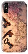 North America And Old Keys IPhone Case