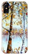 North Country Lake Superior Birch Trees Early Autumn IPhone Case