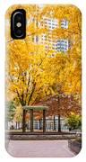 North Plaza Fountain IPhone Case