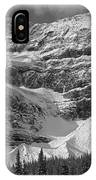 1m3536-bw-north Side Crowfoot Mountain  IPhone Case