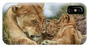 Nostalgia Lioness With Cubs IPhone X Case