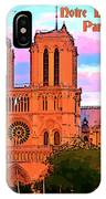 Notre Dame Cathedral Poster IPhone Case