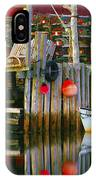 Nova Scotia Fishing Village IPhone Case