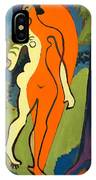 Nude In Orange And Yellow IPhone Case