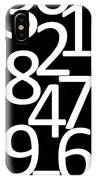 Numbers In Black And White IPhone Case