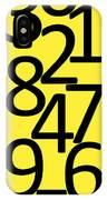 Numbers In Black And Yellow IPhone Case