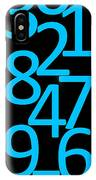 Numbers In Blue And Black IPhone Case