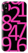 Numbers In Pink And Black IPhone Case