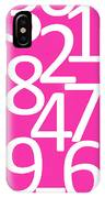 Numbers In Pink And White IPhone Case
