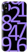 Numbers In Purple And Black IPhone Case