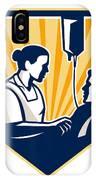 Nurse Tending Sick Patient Retro IPhone Case