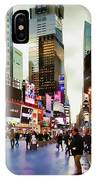 Ny Times Square Impressions I IPhone Case