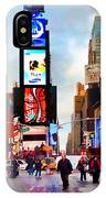Ny Times Square Impressions IIi IPhone Case