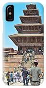 Nyatapola-tallest Pagoda In Nepal-in  IPhone Case