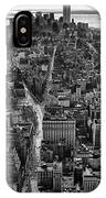 Nyc Downtown - Black And White IPhone Case