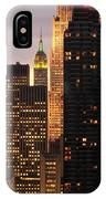 Nyc Midtown Golden Lights IPhone Case